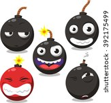 cartoon bomb set 2 | Shutterstock .eps vector #392175499