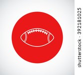 rugby ball icon  | Shutterstock .eps vector #392181025