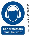 ear protection sign | Shutterstock .eps vector #392182339