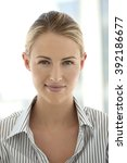 portrait of a young white collar | Shutterstock . vector #392186677