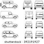 cars. black and white. | Shutterstock .eps vector #392191927