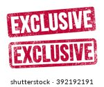 exclusive stamps | Shutterstock .eps vector #392192191