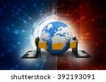 data network | Shutterstock . vector #392193091