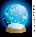 christmas holiday snow globe...   Shutterstock . vector #39219931
