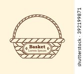 vector wicker linear basket... | Shutterstock .eps vector #392199871