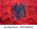 Small photo of National flag of Albania for a background