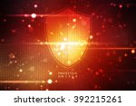 protection concept  pixelated... | Shutterstock . vector #392215261