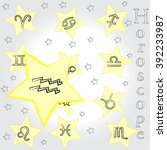 aquarius . zodiac . horoscope . | Shutterstock .eps vector #392233987