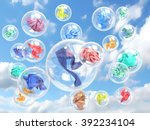 Clothing In Soap Bubbles On Sky ...