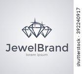 sparkling diamonds icon. logo...   Shutterstock .eps vector #392240917