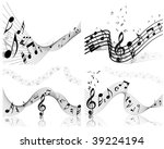 musical notes staff background... | Shutterstock . vector #39224194
