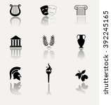 ancient greece. collection of... | Shutterstock .eps vector #392245165