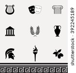 ancient greece. collection of... | Shutterstock .eps vector #392245189