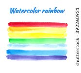 watercolor rainbow for design.... | Shutterstock .eps vector #392260921