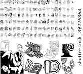 business set of black sketch.... | Shutterstock .eps vector #39226363