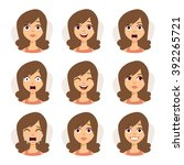 Woman Emotions Expression Icon...