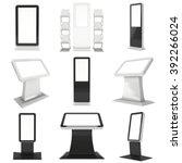 lcd screen kiosk stand set.... | Shutterstock . vector #392266024