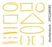 scribble circle  rectangle... | Shutterstock .eps vector #392268085