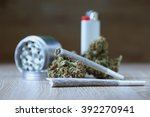 marijuana bud with joints | Shutterstock . vector #392270941