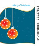 background with hanging balls... | Shutterstock .eps vector #39227515