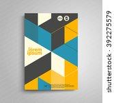 brochure cover design. a4... | Shutterstock .eps vector #392275579