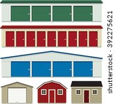 set of self storage buildings   ... | Shutterstock .eps vector #392275621