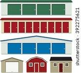 Set Of Self Storage Buildings ...