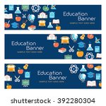 education banners  e learning ... | Shutterstock .eps vector #392280304