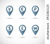 world currency signs in... | Shutterstock .eps vector #392282125