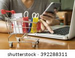 internet online shopping... | Shutterstock . vector #392288311