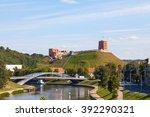 Vilnius City Neris River And...