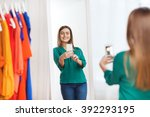 clothing  fashion  style ... | Shutterstock . vector #392293195