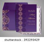 set of wedding cards.... | Shutterstock .eps vector #392293429