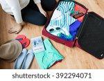 summer vacation  travel ... | Shutterstock . vector #392294071