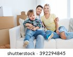 mortgage  people  housing and... | Shutterstock . vector #392294845