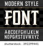 vector font  modern style. ... | Shutterstock .eps vector #392299441