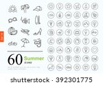 set of summer icons for web or... | Shutterstock .eps vector #392301775