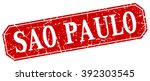 sao paulo red square grunge... | Shutterstock .eps vector #392303545
