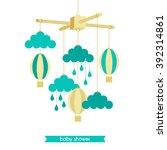 childbirth card. baby shower...   Shutterstock .eps vector #392314861