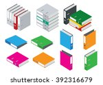 binder blank file folder.... | Shutterstock .eps vector #392316679