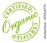 green organic certified stamp.... | Shutterstock .eps vector #392316775
