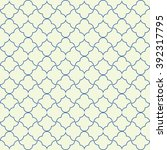 seamless pattern in islamic... | Shutterstock .eps vector #392317795