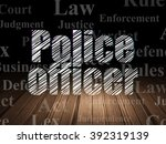 law concept  police officer in... | Shutterstock . vector #392319139