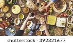 friends happiness enjoying... | Shutterstock . vector #392321677