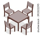 Table With Chairs For Cafes....