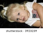 little girl in american flag... | Shutterstock . vector #3923239
