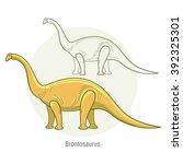 Постер, плакат: Brontosaurus Ancient jurassic reptile