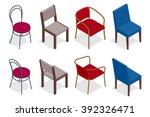 set of chairs. flat 3d...   Shutterstock .eps vector #392326471