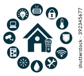 smart house design   Shutterstock .eps vector #392345677
