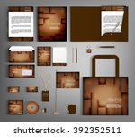 corporate identity template... | Shutterstock .eps vector #392352511